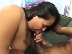 Large latina on some large black cock