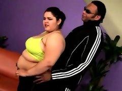 Horny brotha helps a big boobed bbw with her..