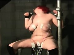 Chubby redhead slut with big tits gets