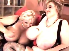 Large lesbians with big tits in lingerie
