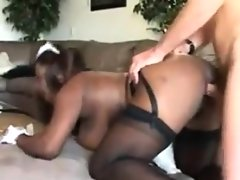 Fat black maid getting fucked