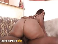 Ebony bbw gets banged by a thick chocolate dick