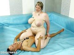 Bbw porn wrestling