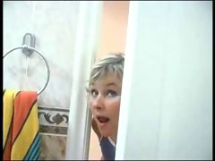 Mom spying on boy will he was in shower