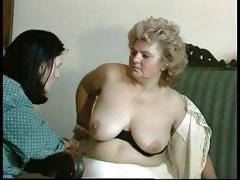 Granny award hairy bbw mature with a toung man