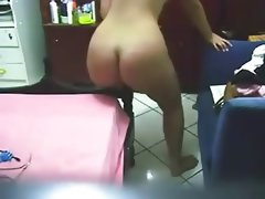 Nice ass chubby dances then fucks bedpost