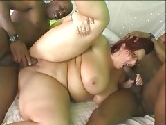 Huge ass white wife is used and fucked by 2 big..