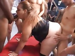 Bbw gangbang and cream pie