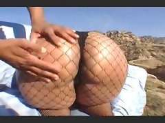 Big red(super phat ass)fucked in fishnets