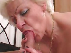 Hot girlblonde bbw mature with a young man