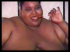 A 5 foot tall big black woman with huge tits