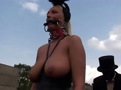 Blonde fetish slut kathleen in bizzare outdoors