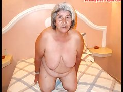 Old latina amateur granny with big boobs and big..