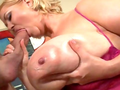 Huge tits bbw sucks and fucks lustily