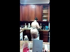Wife cookin\' in the kitchen