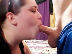 Step-brother blackmails step-sister for a blowjob