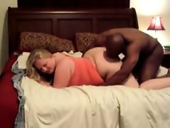 Blonde bbw fucked by a big black cock
