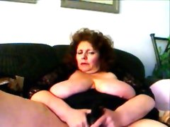 Hot amateur granny fucks herself with black sex..