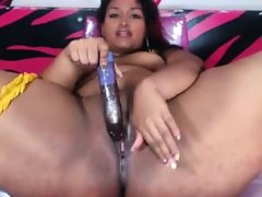 Bbw latina with dildo in creamy pussy
