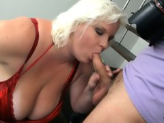 Big tits blonde bbw is doggystyled after..