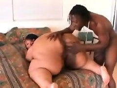 Massive ebony slut with a black guy