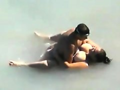 Fat girl getting fucked in the sea
