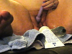 Wanda\'s huge pussy with a big 10 inch long clear..
